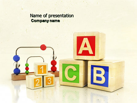 Education & Training: ABC Blocks PowerPoint Template #04450