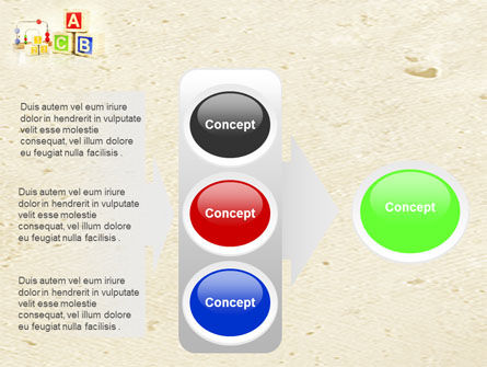 ABC Blocks PowerPoint Template Slide 11