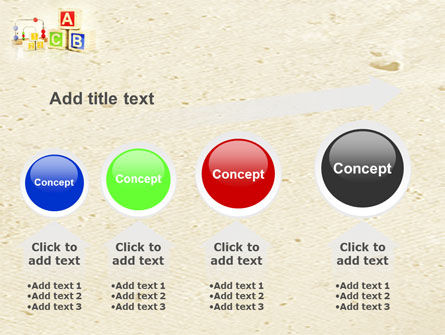 ABC Blocks PowerPoint Template Slide 13