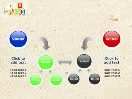 ABC Blocks PowerPoint Template Slide 19