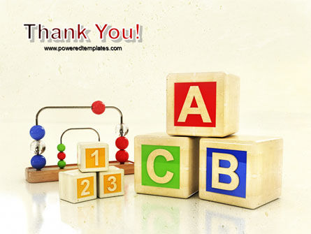 ABC Blocks PowerPoint Template Slide 20