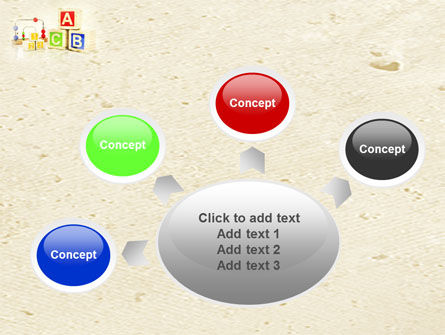 ABC Blocks PowerPoint Template Slide 7