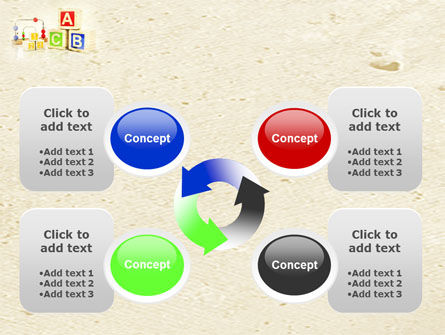 ABC Blocks PowerPoint Template Slide 9