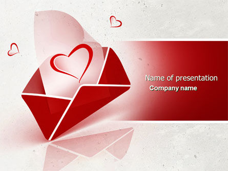 Holiday/Special Occasion: Letter With Love Free PowerPoint Template #04451
