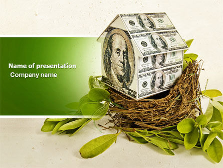 Financial/Accounting: Loan On Mortgage PowerPoint Template #04454
