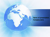Global: Blue Globe PowerPoint Template #04456