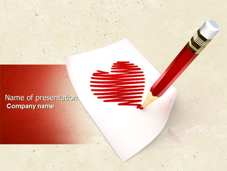 Holiday/Special Occasion: Picture of Heart PowerPoint Template #04457