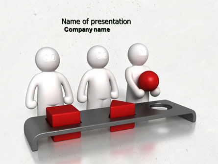 Education & Training: Intellectual Test PowerPoint Template #04459