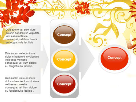 Autumn Theme With Red Leaves PowerPoint Template Slide 11