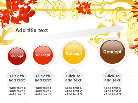 Autumn Theme With Red Leaves PowerPoint Template Slide 13