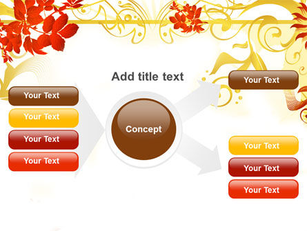 Autumn Theme With Red Leaves PowerPoint Template Slide 14