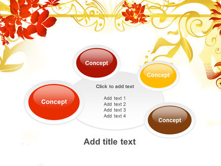 Autumn Theme With Red Leaves PowerPoint Template Slide 16