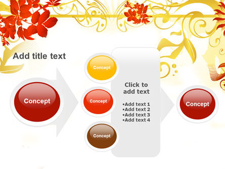 Autumn Theme With Red Leaves PowerPoint Template Slide 17