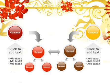 Autumn Theme With Red Leaves PowerPoint Template Slide 19