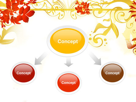 Autumn Theme With Red Leaves PowerPoint Template Slide 4