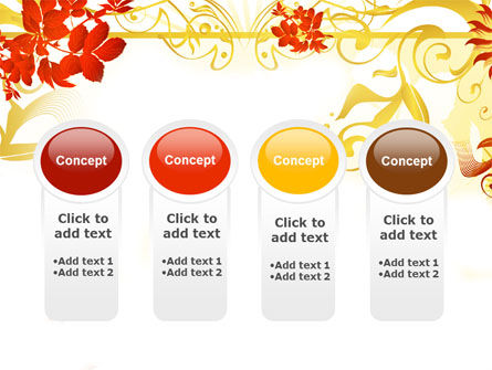 Autumn Theme With Red Leaves PowerPoint Template Slide 5