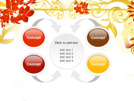 Autumn Theme With Red Leaves PowerPoint Template Slide 6