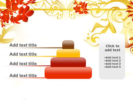 Autumn Theme With Red Leaves PowerPoint Template Slide 8
