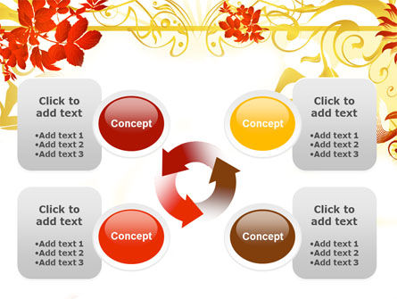 Autumn Theme With Red Leaves PowerPoint Template Slide 9