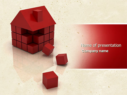3D Cubes Building PowerPoint Template