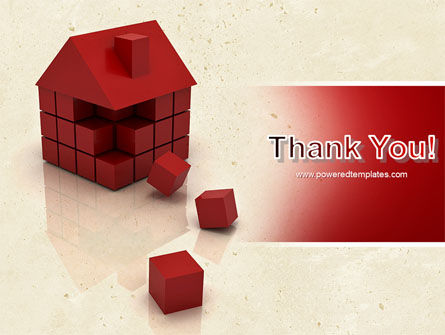 3D Cubes Building PowerPoint Template Slide 20