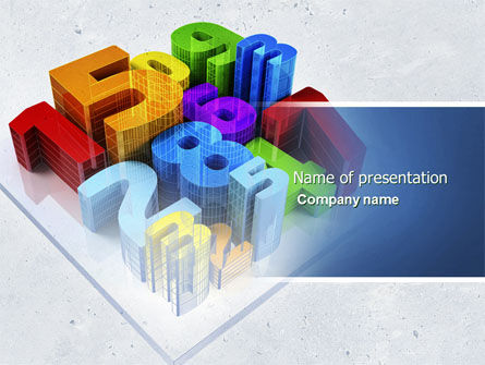 Education & Training: Digits PowerPoint Template #04464