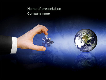 Incomplete PowerPoint Template, 04468, Business — PoweredTemplate.com