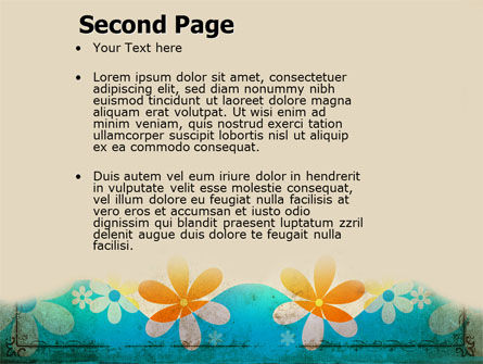 Pastel Floral Theme PowerPoint Template Slide 2