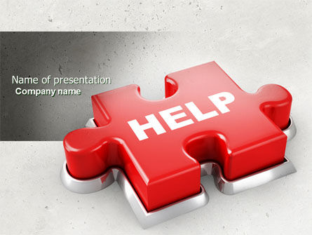 Help Puzzle PowerPoint Template, 04470, Consulting — PoweredTemplate.com