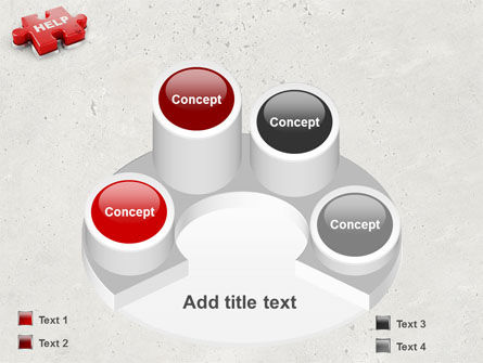 Help Puzzle PowerPoint Template Slide 12
