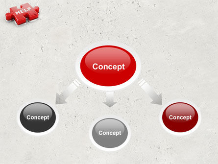 Help Puzzle PowerPoint Template Slide 4