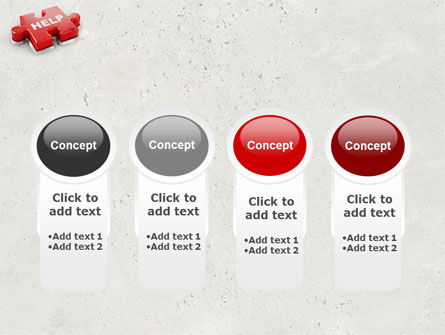 Help Puzzle PowerPoint Template Slide 5