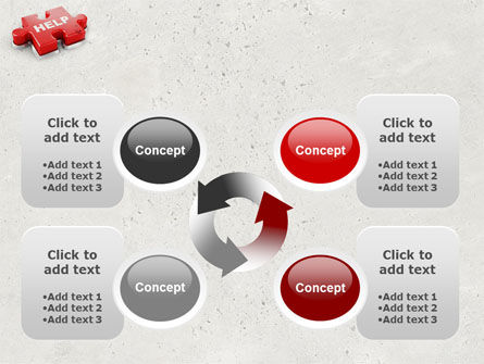 Help Puzzle PowerPoint Template Slide 9