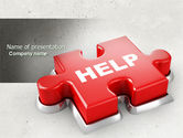 Consulting: Help Puzzle PowerPoint Template #04470