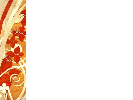 Orange Floral Theme PowerPoint Template, Slide 3, 04477, Abstract/Textures — PoweredTemplate.com