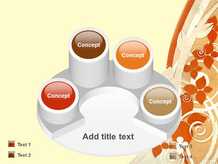 Orange Floral Theme PowerPoint Template Slide 12