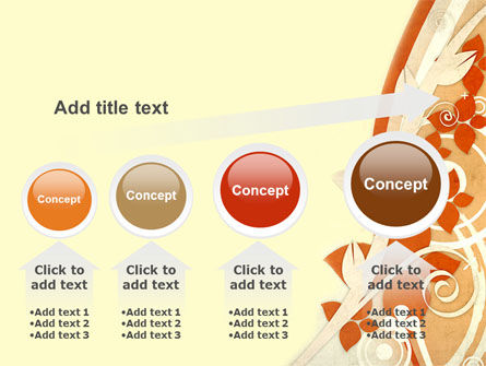 Orange Floral Theme PowerPoint Template Slide 13