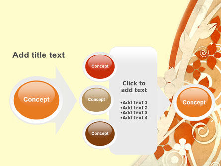 Orange Floral Theme PowerPoint Template Slide 17