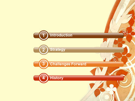 Orange Floral Theme PowerPoint Template Slide 3