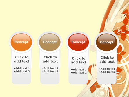 Orange Floral Theme PowerPoint Template Slide 5