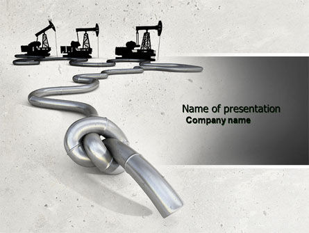 Utilities/Industrial: Gas Pipelines PowerPoint Template #04478