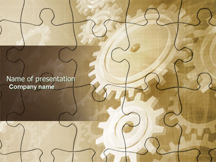 Business Concepts: Component PowerPoint Template #04480
