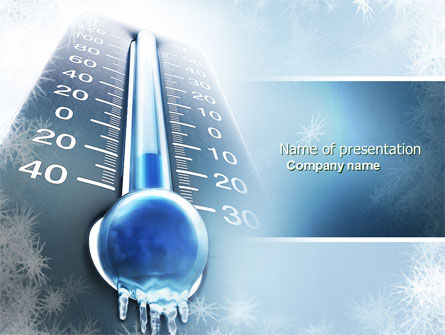 Nature & Environment: Frost PowerPoint Template #04481