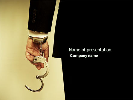 Legal: Handcuffs PowerPoint Template #04484
