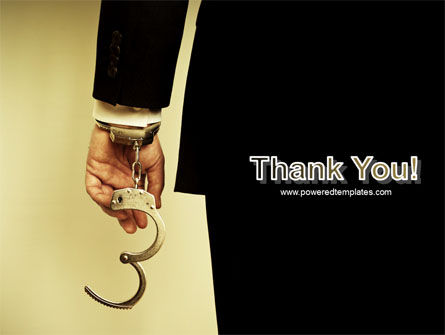 Handcuffs PowerPoint Template Slide 20