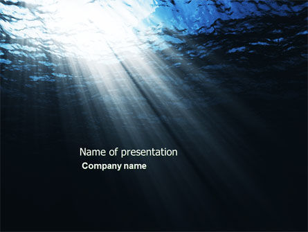 Nature & Environment: Deep Waters PowerPoint Template #04488
