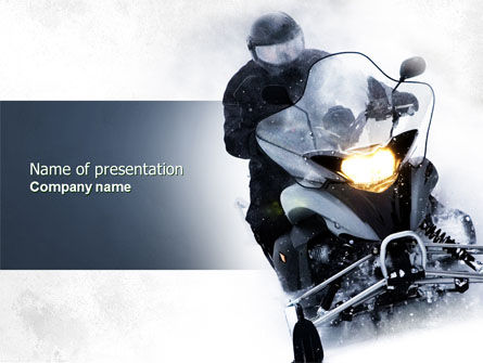 Cars and Transportation: Snowmobile PowerPoint Template #04489