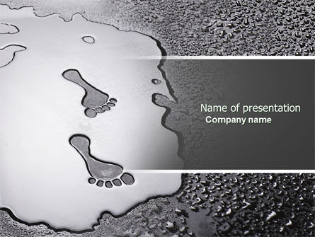 Business Concepts: Foot Prints PowerPoint Template #04493