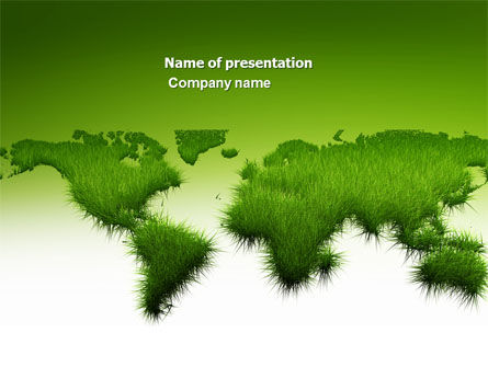Green Grass of World PowerPoint Template