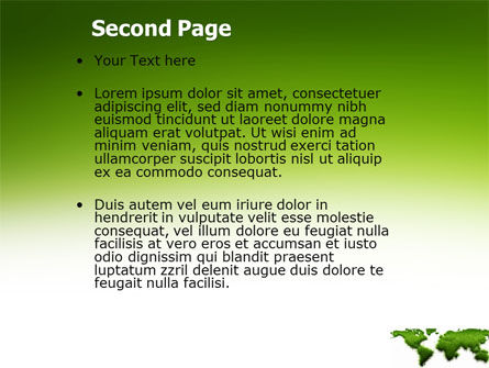 Green Grass of World PowerPoint Template Slide 2
